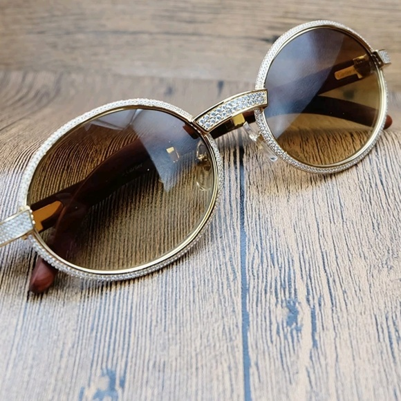 39ad45695e0b glasses Other - Custom cartier glasses with diamonds.